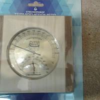 Термометр гигорметр для Бани для Сауны (дерево светлое) ТГС квадрат