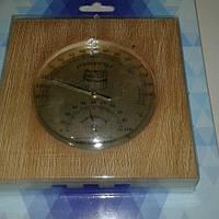 Термометр гигорметр для Бани для Сауны (дерево цвет ореха) ТГС квадрат