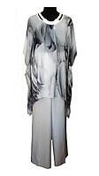 Женский летний брючный костюм Мишель стиль, 58 размер