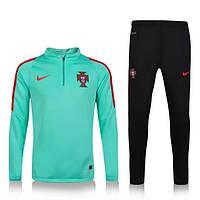 Спортивный костюм Nike, Португалия (зеленый). Футбольный, тренировочный. Сезон 16/17 (реплика) XL (52-54)