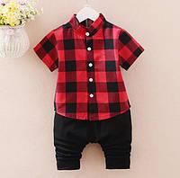 Милый костюм на мальчика, рубашка и бриджи. Качественный пошив. Стильный дизайн. Доступная цена.  Код: КГ1173
