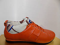 Жіночі мокасини Hermes 8836 помаранчеві