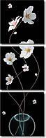 """Картина модульная """"Цветущие ветки в вазе""""  (500х1560 мм)  [3 модуля]"""