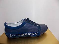 Жіночі мокасини Burberry 835 сині