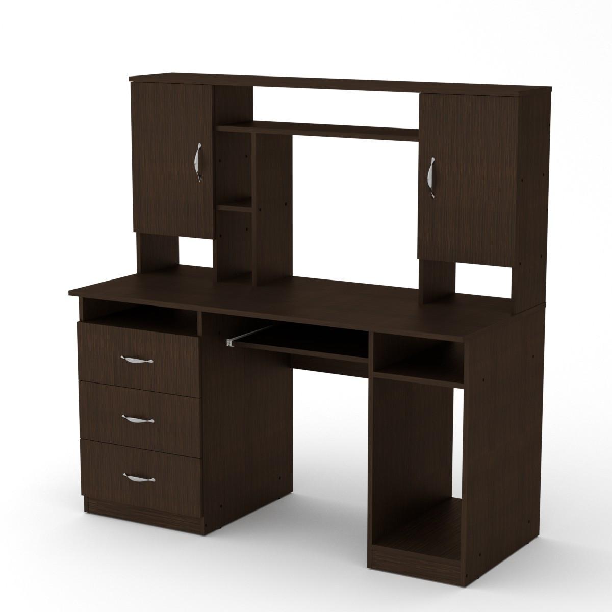 Стол компьютерный менеджер венге Компанит (140х60х142 см)