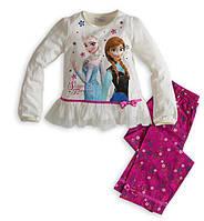 Яркий красочный костюм на девочку Frozen, кофта и штаны. Хорошее качество. Доступная цена. Дешево. Код: КГ1174