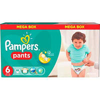 Подгузники - трусики детские Pampers Pants (6) Extra large 16+ кг 88 шт. Mega Box