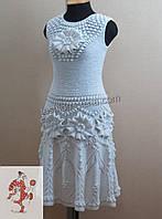 Самое красивое вязаное платье с цветами