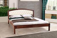 Кровать полуторная Джульетта с мягким изголовьем