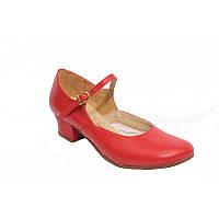 Туфли для народных танцев  женские красные, черные