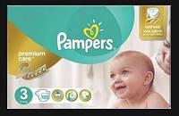 Подгузники Pampers Premium Care 3 (5-9 кг) MEGA PACK 120 шт