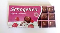 Шоколад Schogetten Yoghurt Strawberry (Клубничный йогурт) 100 гр