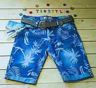 Джинсовые  шорты для мальчика цветные     рост 134-164, фото 1