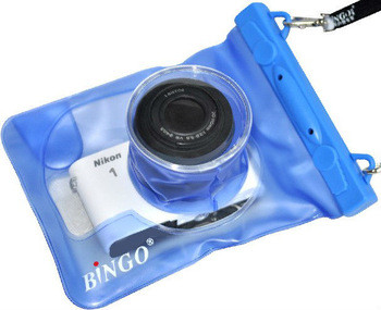 Водонепроницаемый аквабокс для фотоаппаратов Bingo синий