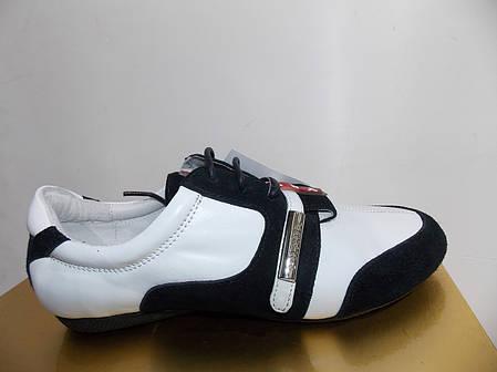 Женские мокасины Prada 7815 черно-белые, фото 2