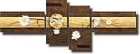 "Модульная картина ""Цветы магнолии""  (60х162 мм)  [4 модуля]"