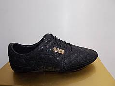 Жіночі мокасини Dior 8835 чорні