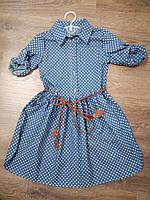 Детское платье для девочки Джинс
