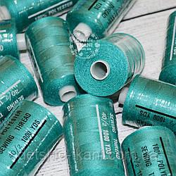 Нитки швейные 40/2, 1000 ярдов, цвет тёмно-бирюзовый (№257)