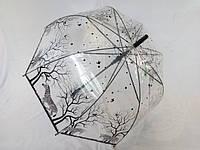 Прозрачный зонт трость с глубоким куполом № 323 от Swifts