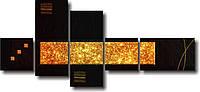 """Модульная картина """"Золото"""" (630х1590 мм) [5 модулей]"""