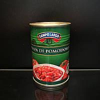 Консервированные помидоры кубиками Campo Largo Polpa di pomodoro 400г (Италия)