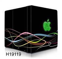 """Чехол для iPad2 гламур HQ-Tech 19119 """"Apple theme, Black"""""""
