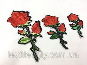 Нашивка Роза цвет розовый s 48x100 мм, фото 3