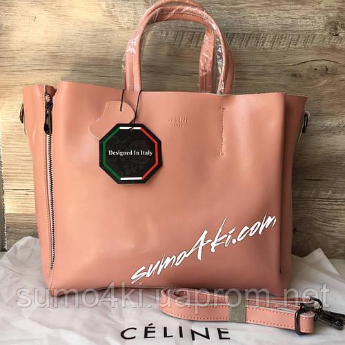 fca9d98c9d7c Купить Женскую кожаную сумку Celine Селин бронзу розовую оптом и в розницу  в Одессе интернет-магазина