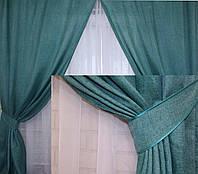 """Готовые шторы """"Лен Мешковина"""" (2шт. 1,5*2,25м.) 111ш (У)"""