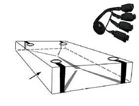 Ремни на кровать Bed bondage фиксаторы запястий и лодыжек ♠ , фото 3