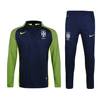 Спортивный костюм Nike, Сборная Бразилии. Футбольный, тренировочный. Сезон 16/17 (реплика) XL (52-54)