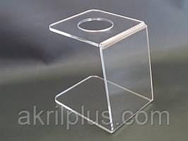 Подставка под мороженное на 1 рожок прозрачная