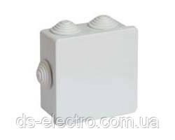 Коробка ответвительная квадратная с кабельными вводами, DKC, IP44, 80х80x40мм, 53700