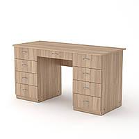 Стол письменный учитель-3 дуб сонома Компанит (140х60х74 см)