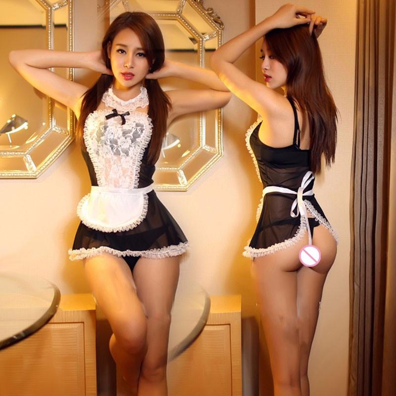 Эротический комплект белья горничной Housekeeper