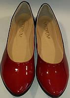 Балетки женские натуральная кожа р36-40 MEDIUM 1135 красные ВЕРОН