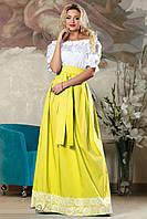Красивая длинная летняя юбка 2176 42–48р. в расцветках, фото 1