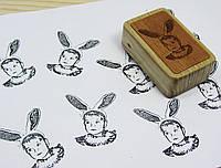 Штамп 1 фотография на деревяном бруске с гравировкой ребенок
