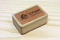 Штамп ЛОГОТИП на деревяном бруске с гравировкой ребенок