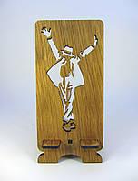 """Подставка под мобильный телефон  """"Майкл Джексон"""" из натурального дерева"""