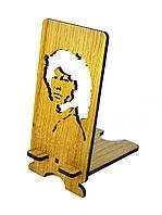 """Подставка под мобильный телефон  """"Джим Моррисон"""" из натурального дерев"""