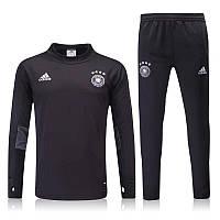 Спортивный костюм Adidas, Сборная Германии (черный). Футбольный, тренировочный. Сезон 16/17