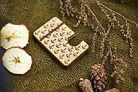"""Картхолдер для кредитных карт """"Якоря"""" из натурального дерева визитница"""