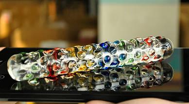 Фаллоимитатор Rainbow Crystal стеклянный , фото 2