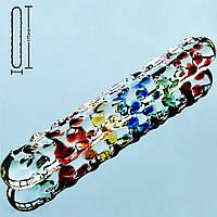 Фаллоимитатор Rainbow Crystal стеклянный