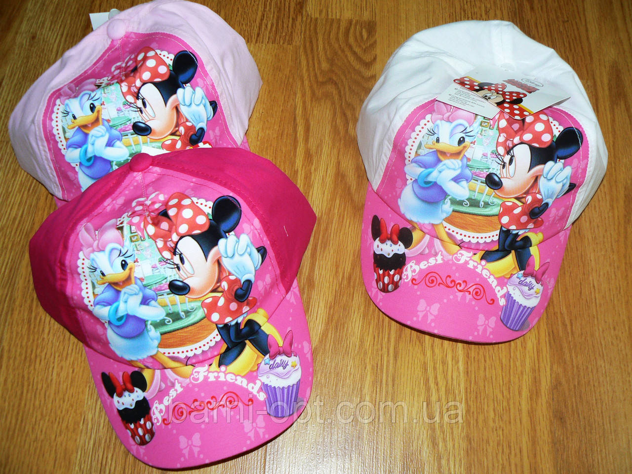Кепки для девочек оптом, Disney Minie , 52-54 рр