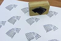 """Штамп - """"Игра престолов"""" на деревяном бруске с гравировкой"""