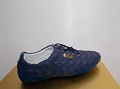 Жіночі мокасини Dior 8835 сині