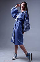 Сукня з вишивкою Дерево життя в стилі джинс, фото 1